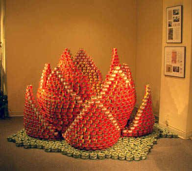 Canstruction Lotus